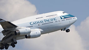 Cathy Pacific Passenger Aircraft Fotos de Stock
