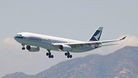 Cathy Pacific Passenger Aircraft Royalty Free Stock Photos
