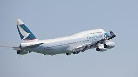 Cathy Pacific Passenger Aircraft Royalty Free Stock Photo