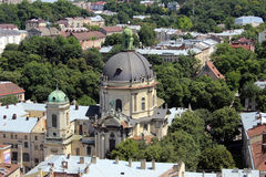 Cathédrale de Lviv Photos stock