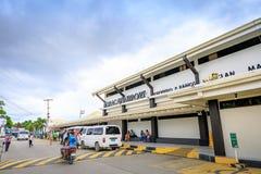 Caticlan flygplats nära den Boracay ön i Filippinerna Royaltyfri Bild