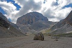 Catinaccio d ` Antermoia szczyt fotografia royalty free