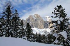 Catinaccio peak in winter Stock Photos