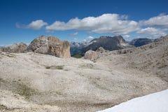 Catinaccio Rosengarten -白云岩山(意大利) 库存图片