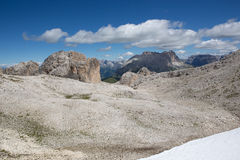Catinaccio Rosengarten - Dolomites mountains (Italy) Stock Image
