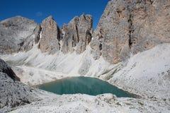 Catinaccio  Rosengarten  Lake Antermoia - Dolomites  Dolomiti mountains (Italy) Royalty Free Stock Photography
