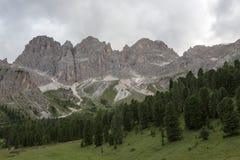 Catinaccio Rosengarten - montagne delle dolomia (Italia) Immagini Stock Libere da Diritti