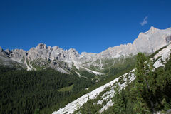 Catinaccio Rosengarten - montagne delle dolomia (Italia) Fotografia Stock