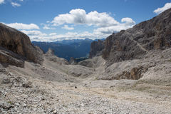 Catinaccio - Rosengarten Pass of Scalette (Italy) Royalty Free Stock Images