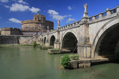 Catle and bridge in Vatican Royalty Free Stock Images