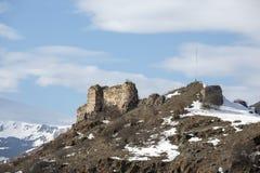 Catle di Posof nel distretto di Posof di Ardahan, Turchia fotografia stock libera da diritti