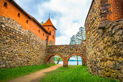 Catle walls, archs and tower Royalty Free Stock Photography