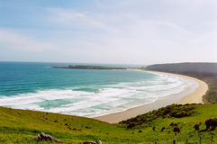 Catlins beach, New Zealand. The ocean in the Catlins area in south New Zealand stock photography