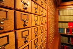 Catálogo de biblioteca Imagen de archivo libre de regalías