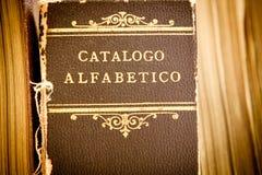 Catálogo de biblioteca viejo Imagen de archivo libre de regalías