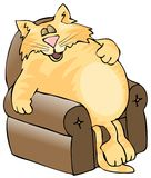 Catnap. This illustration depicts a large orange cat asleep in a chair Royalty Free Stock Photography