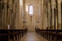 Catolic意大利人教会 里面视图 库存照片