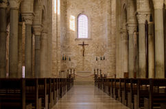 Catolic italian church. Inside view Stock Photos