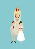 Catolic religion design Stock Image