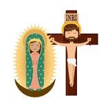 Catolic religion design. Illustration eps10 graphic Royalty Free Stock Images