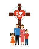 Catolic religion design Royalty Free Stock Photo