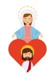 Catolic religion design Royalty Free Stock Images