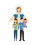 Catolic religion design Stock Photo