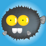 Catoon-Blowfish lustig vektor abbildung