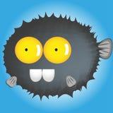Catoon blowfish śmieszny Obraz Royalty Free