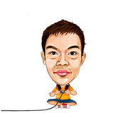 Cartoon builder. Llustration of Catoon Builder worker man's with sign Stock Image