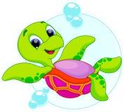 Catoon feliz de la tortuga Imagenes de archivo