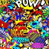 Catoon Words Background Stock Photo
