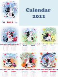 Catrabbit calendar Royalty Free Stock Photography