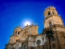 Catredal in Cadiz, Spain. Sunny day in Cadiz , Spain with amazing look on catedral Stock Photography