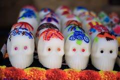 catrina日死亡深度域墨西哥浅传统 传统墨西哥糖果 免版税图库摄影
