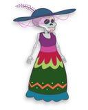 Catrina cartoon mexican traditional drawing Stock Photography