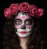 Catrina czaszki portret Fotografia Stock