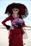 Catrina na playa del carmen Fotografia Royalty Free