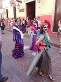 Catrina parade. Joven vestido de Catrina Stock Image
