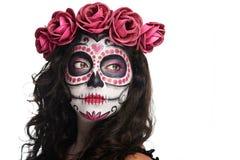 Catrina skull makeup stock images