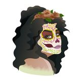 Catrina, Tag des toten Symbols von Mexiko lizenzfreie abbildung