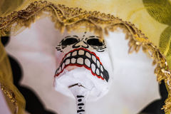Catrina traditionnel d'or mexicain Images libres de droits