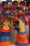 Catrinas Capula που δημιουργείται από τους μεξικάνικους βιοτέχνες Στοκ εικόνα με δικαίωμα ελεύθερης χρήσης
