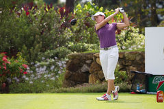 Catriona Matthew tees of at LPGA Malaysia Stock Images