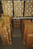 Catron boxes in warehouse Royalty Free Stock Photography
