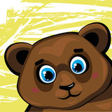 Catroon brown funny bear Stock Image