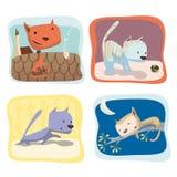 Cats. Amusing child illustrations of cats Royalty Free Illustration
