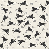 Cats. And toys background pattern Royalty Free Stock Photos