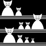 Cats Abstract seamless vector background Template Stock Photo