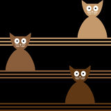 Cats Abstract seamless vector background Template Stock Images